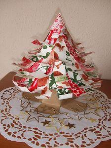 Sapin de noel en papier et en 3 d bricoler avec les - Bricolage de noel en papier ...