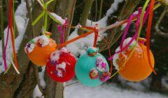 Fabriquer des boules de noel en tissu boule de noel en - Deco de noel a fabriquer facile ...