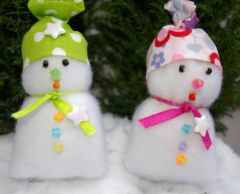 Bonhomme de neige bricolage enfant pour noel et les f tes d coration de table d coration - Fabriquer un bonhomme de neige ...