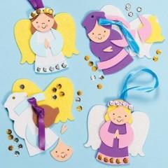 bricolage facile pour noel fabriquer des decorations ange à suspendre dans le sapin occupation enfant vacances noel.jpg