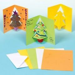 carte de noel à décorer activités manuelles enfants decorer une carte de noel sapin facile pas cher.jpg
