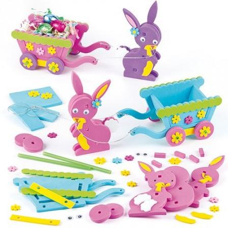 Paques activites manuelles decoration de table paques for Decoration lapin de paques