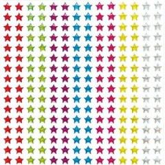 stickers etoiles pour decorer support couronne des rois boite cadeau fête des meres stickers brillants etoiles couleurs.jpg