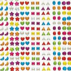 stickers forme brillant lune etoile coeur carré triangle ovale rond pour decorer support activites manuelles fete des mères.jpg