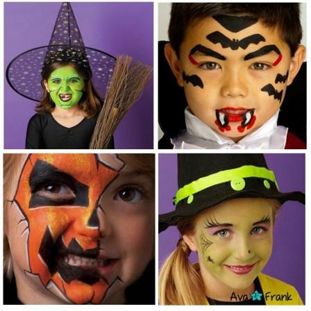 Pochoir maquillage enfant pochoirs pour maquiller fille ou gar on pour anniversaire carnaval - Maquillage pirate halloween ...