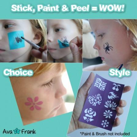 Préférence pochoir maquillage enfant : pochoirs pour maquiller fille ou  PA22