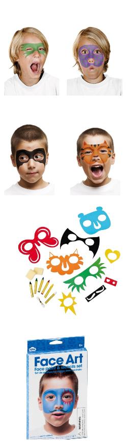 maquillage enfant pochoir pour visage enfant fête carnaval facile pas cher.png