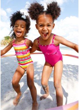 4ae2f94cbdde Ensemble de bain pour la plage Filles - Bikini et jupette pour les ...