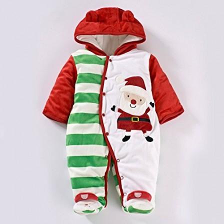 083898f2f3352 pyjama de noel combinaison blanche rouge et verte premier noel bebe pere noel imprime pyjama bien chaud bebe noel.jpg