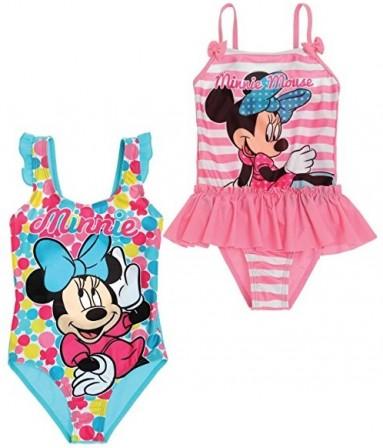 74b005debe Maillot de bain coloré Minnie de Disney pour les filles de 2 ans, 4 ans, 6  ans, 8 ans