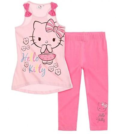 787ec4fb9 Tenue Hello kitty pour petite fille de 4 ans et 6 ans. Ensemble tee-shirt  imprimé kitty et legging : parfait pour la plage