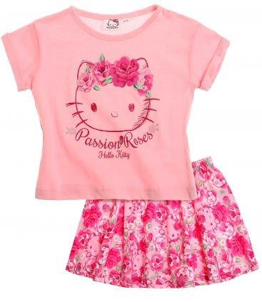 dfdab5991f7 Pour les petites filles   tenue légère à porter l été sur le thème Hello  kitty. Vêtements enfant ...