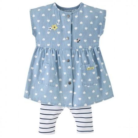 11ae5bce868 Ensemble 2 pièces en coton pour habiller les petites filles de 1 mois au 18  mois avec des vêtements à la mode et confortables.