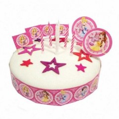 Anniversaire th me princesse moule g teau d cor en - Decoration gateau anniversaire fille princesse ...