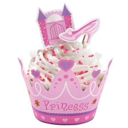 Anniversaire th me princesse moule g teau d cor en - Deco pour cupcake ...