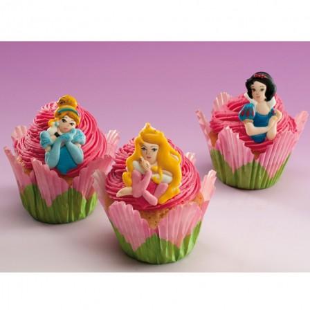 Anniversaire th me princesse moule g teau d cor en sucre id e d co p tisserie avec des - Deco pour cupcake ...