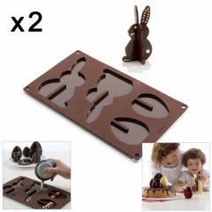 moule chocolat de paque plaque lekue pour lapin en chocolat et oeuf en chocolat 3D nouveautés lekue pour paques