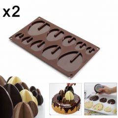 plaque lekue pour préparer oeuf en chocolat decoration de gâteau origina 4 tailles oeuf 3 D en chocolat