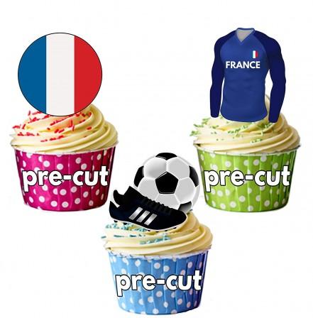 Football anniversaire enfant et adultes sur le th me du football pr parer et d corer un - Deco pour cupcake ...