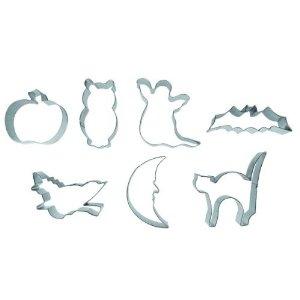 emporte pièce halloween coupe pate decoupoir pâte sablée pour biscuit halloween chat fantome chauve souris sorciere citrouille chouette lune