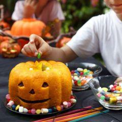 Gateau forme citrouille halloween