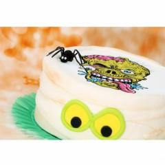 halloween disque alimentaire en azyme sucre à poser sur gâteau tête de mort decoration grand gâteau halloween.jpg