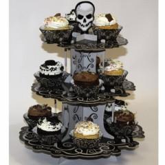 halloween presentoir à cupcake avec têtes de mort support gâteau halloween pas cher original.jpg