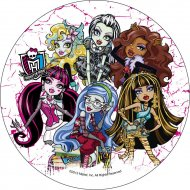 disque azyme monster high halloween poser decoration ronde sur gâteau patisserie pas cher original.jpg