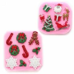 noel moule silicone p 226 te 224 sucre p 226 te d amande pour r 233 aliser decoration sucr 233 e noel moule