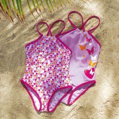 84bb459067 Lot de 2 maillot de bain une pièce pour les filles : le top pour la plage  pour les filles du 2 ans au 12 ans