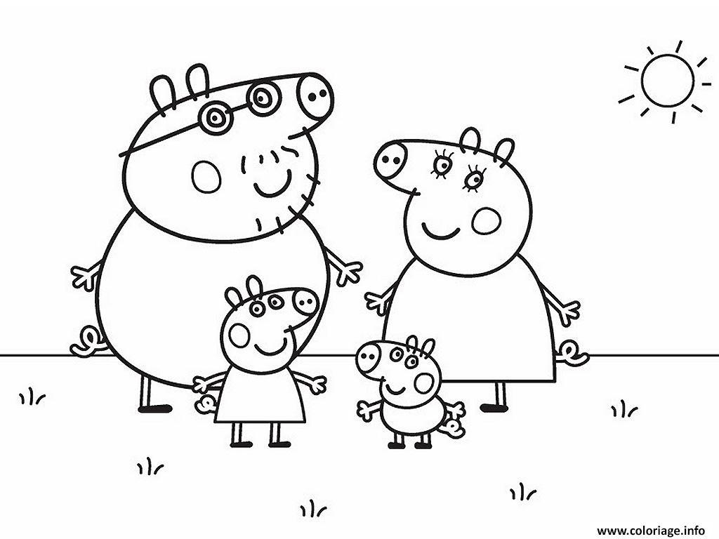 Les Nouveaux Coloriages De Peppa Pig Sont Arrivés Imprimer