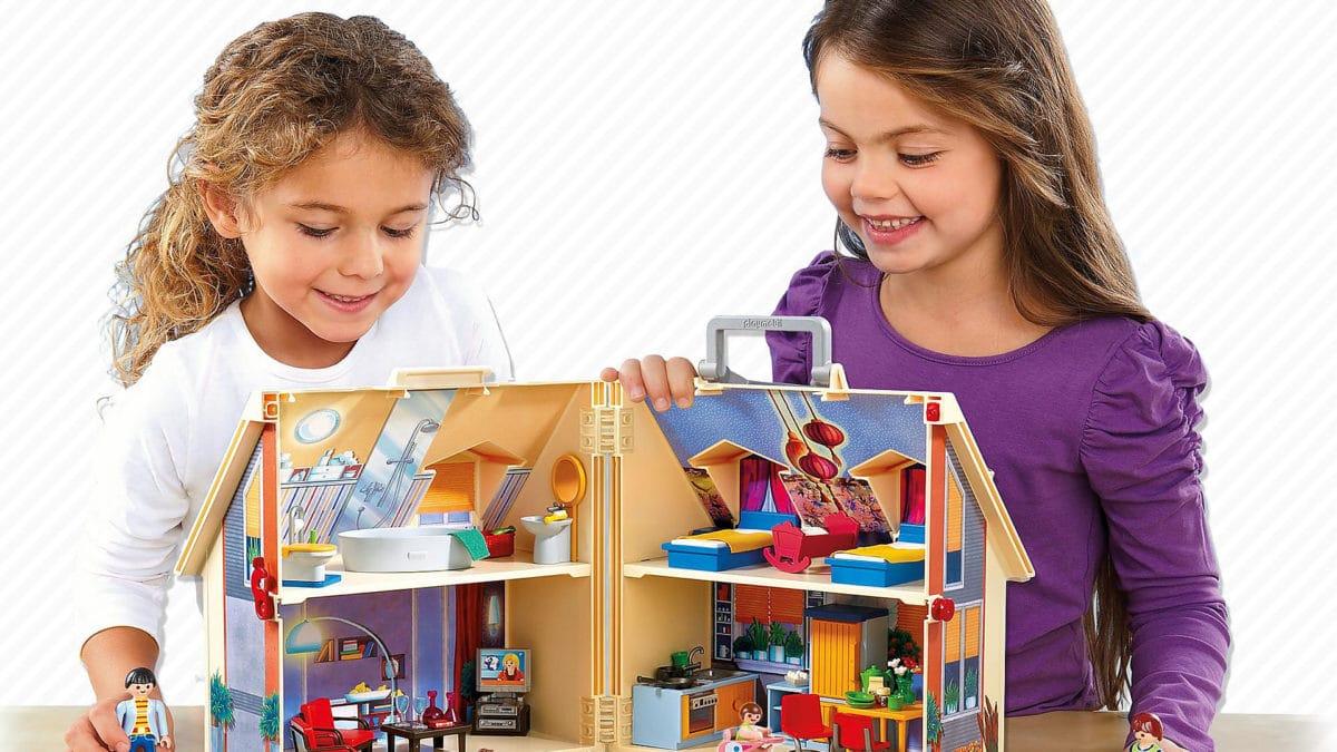 Playmobil à partir de 4 ans pour les enfants : la maison transportable