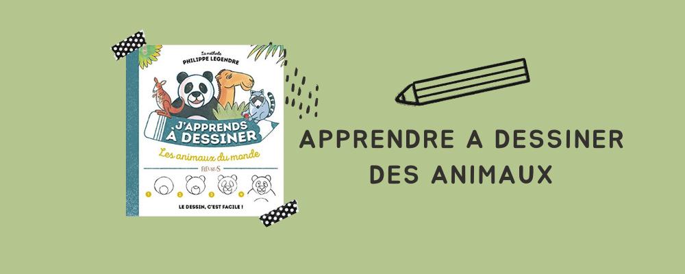 Un livre pour enfant pour apprendre à dessiner les animaux de A à Z : idée cadeau enfant 5 ans