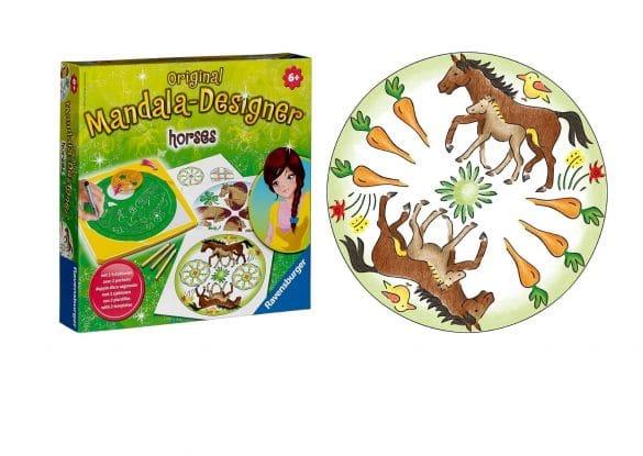 dessiner mandala chevaux