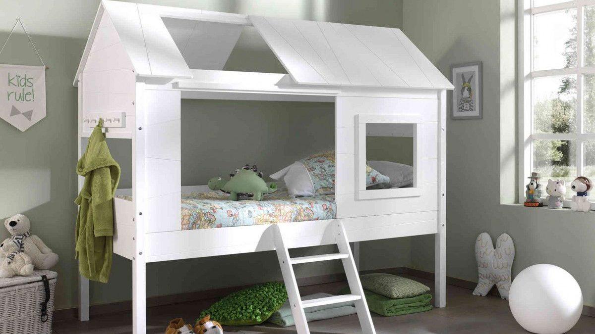 Lit cabane pour chambre d'enfant – Idée d'amènagement et de gain de place dans une chambre d'enfant avec ce lit cabane