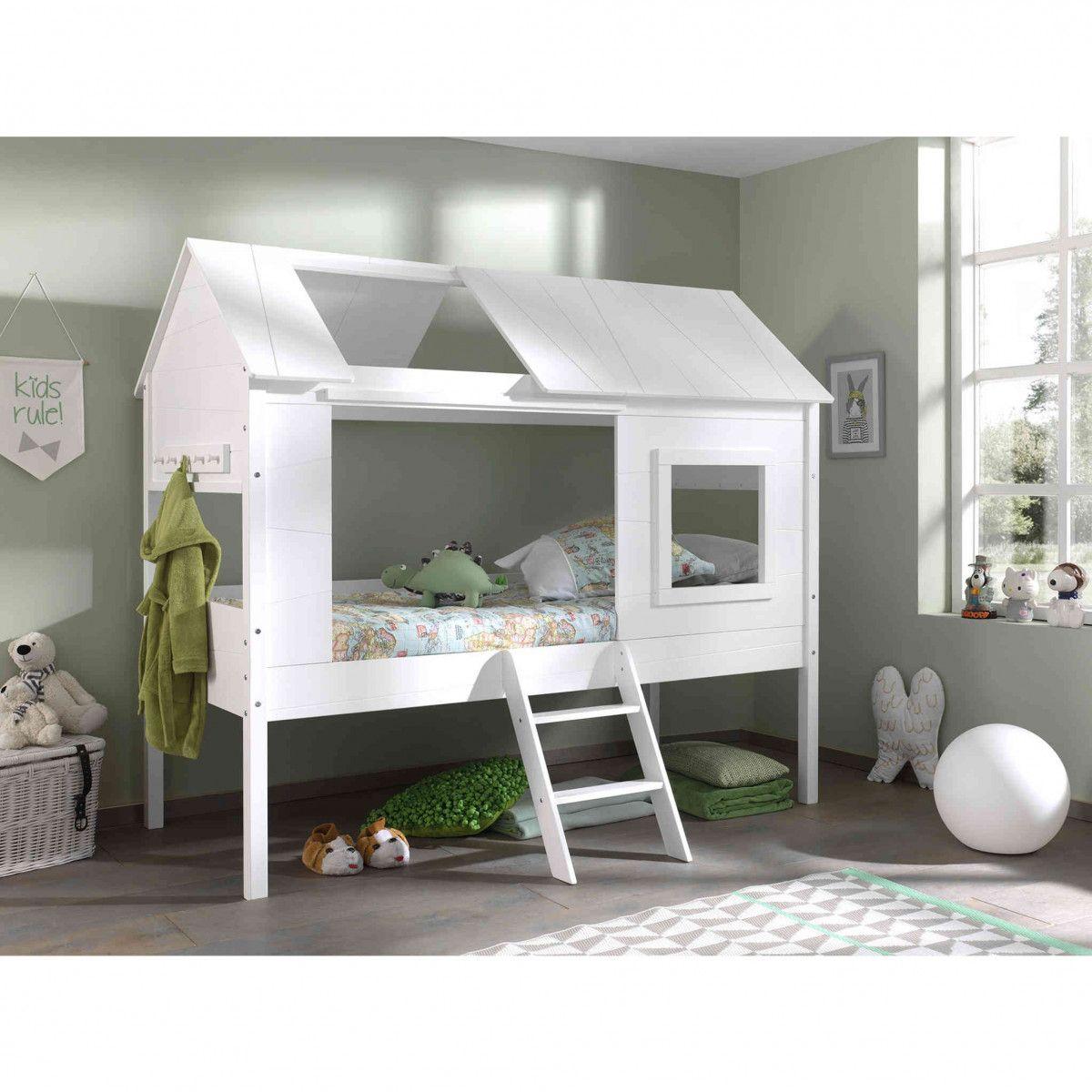 Chambre Lit Cabane Fille lit cabane pour chambre d'enfant - idée d'amènagement et de