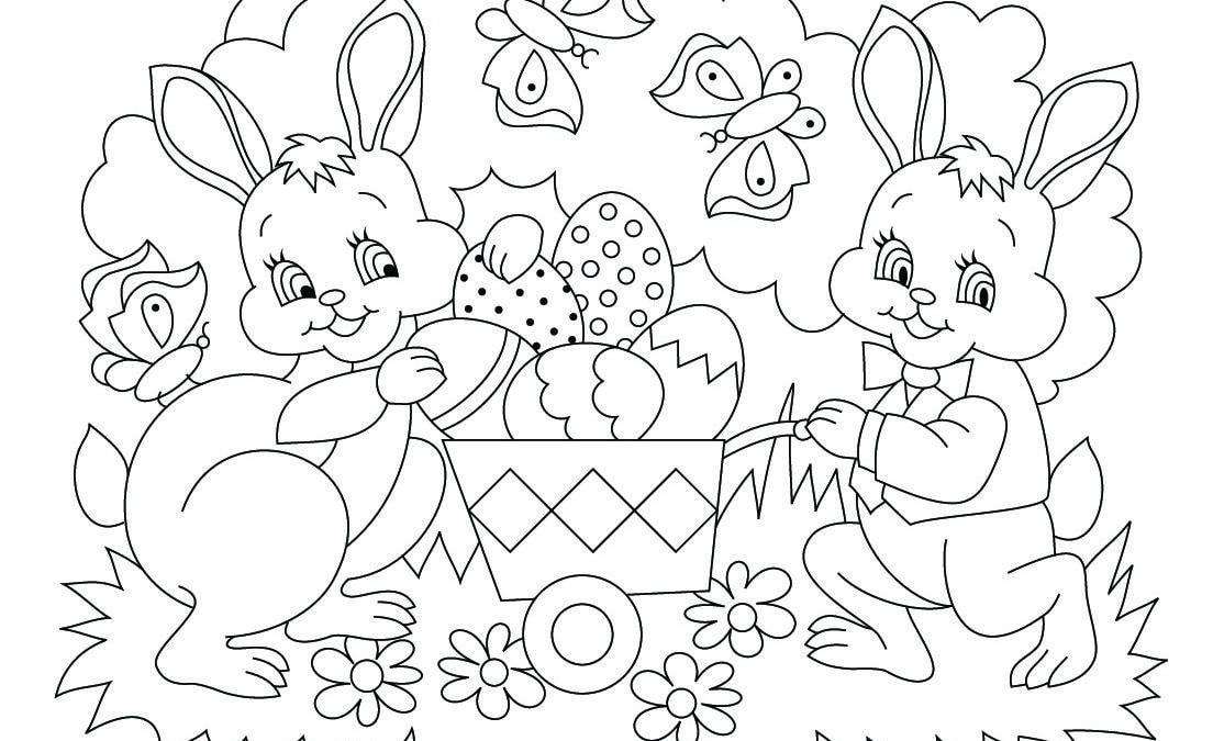 Coloriages de Pâques – Images, dessins de Pâques à imprimer, dessiner et colorier – coloriage de Pâques