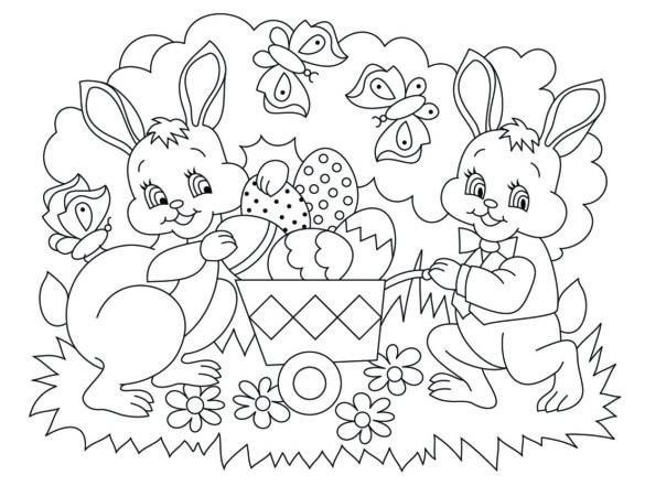 imprimer coloriage Pâques