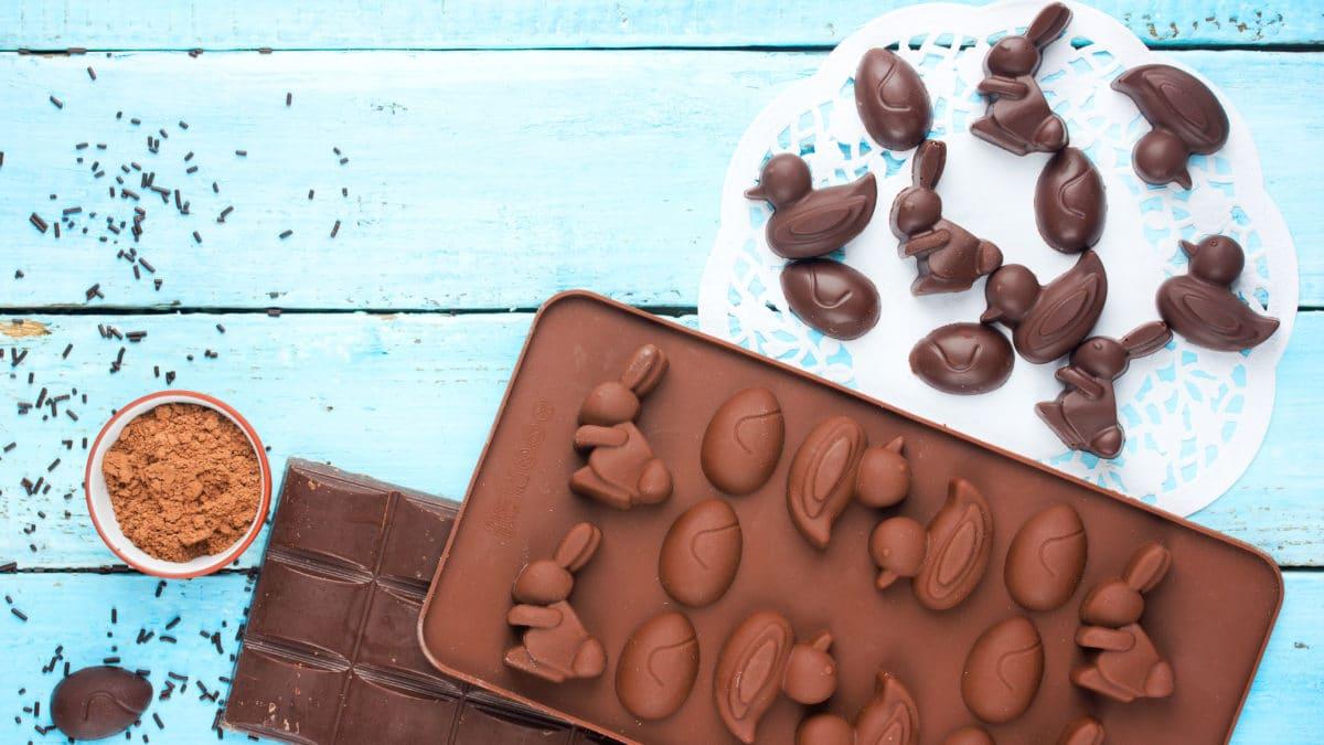 Moule pour chocolat de Pâques : lapin, canard – Fabriquer vos chocolats de Pâques pour faire des économies