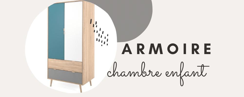 Meubles et mobilier chambre enfant ou junior – Armoire rangement tendance pour chambre de jeune