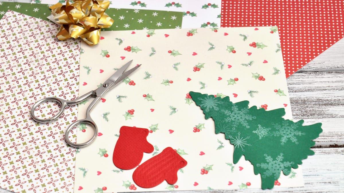 Scrap et home déco pour noel : le sapin de noel de Sandra – Fabriquer un sapin de noel pour décorer votre table de Noël