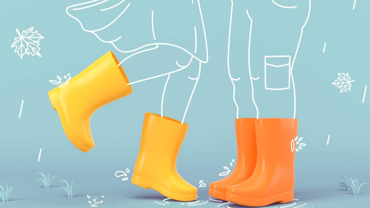 Bottes de pluie en caoutchouc pour enfants