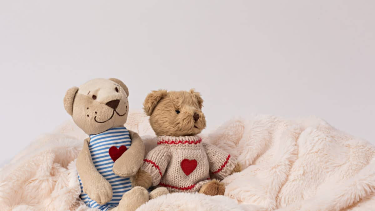 Premier jouet pour bébé, idée de cadeau de noel pour les petits – Doudou animaux rigolos pour bébé