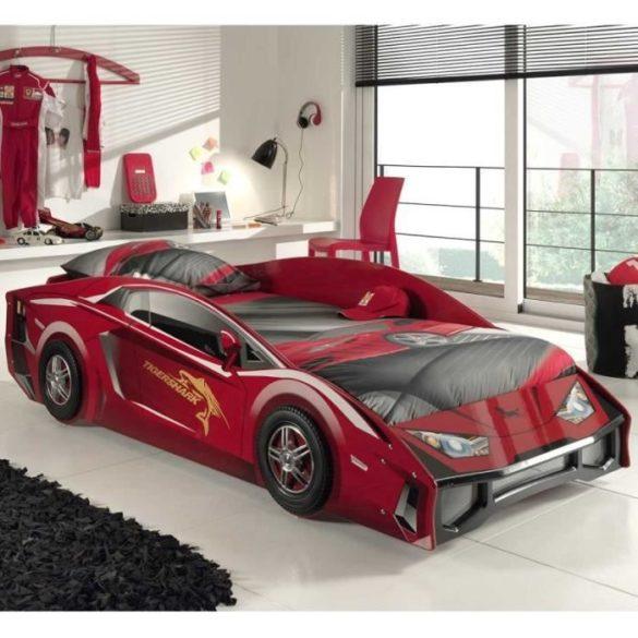 lit voiture de sport rouge