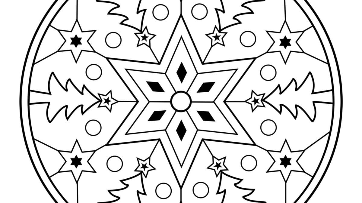 mandala de no l et coloriage coloriages mandalas de no l. Black Bedroom Furniture Sets. Home Design Ideas