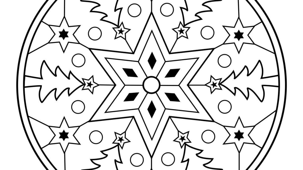 Mandala de noël et coloriage – Coloriages mandalas de Noël gratuits –  Mandalas et dessins de noel à imprimer