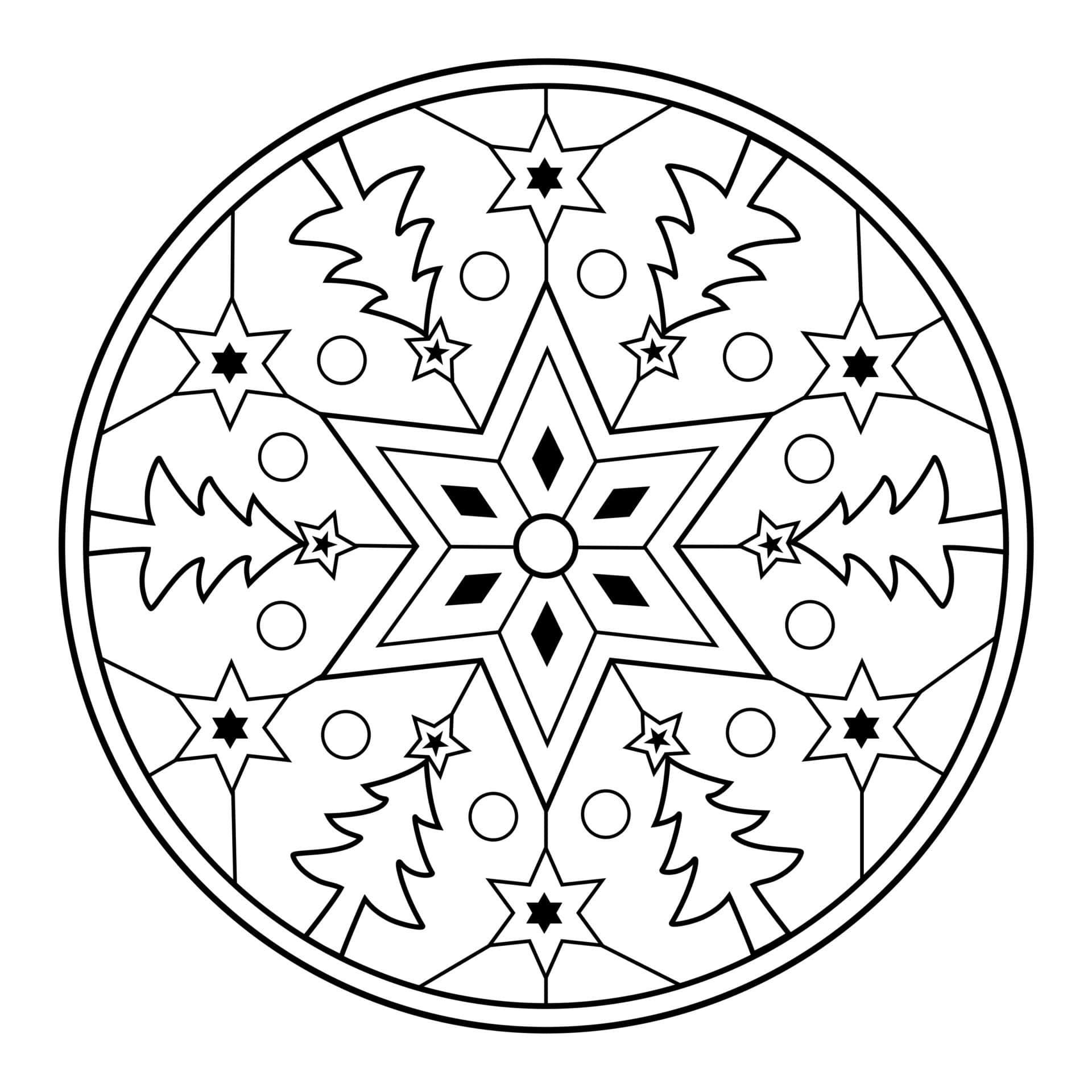 Coloriage Mandala Maternelle A Imprimer Gratuit.Mandala De Noel Gratuit A Imprimer Un Max D Idees