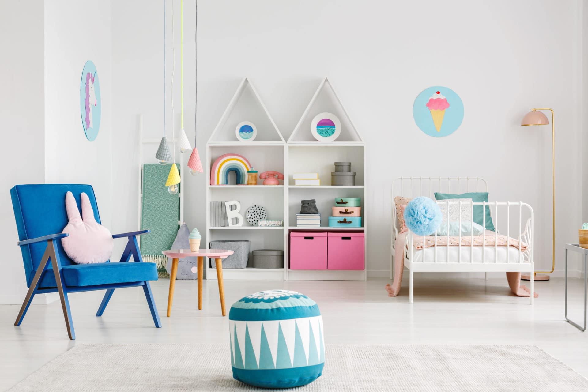 Armoire Murale Pour Chambre rangement jeux et jouets chambre enfant - coffre à jouets