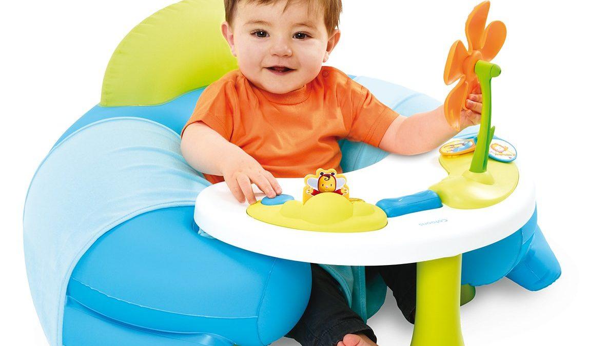 Coussin détente pour bébé de 3 mois à 18 mois – Jouer assis sur coussin cale-bébé confortable – Idée cadeau bébé