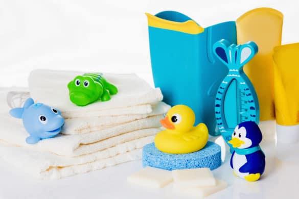 jouets d'eveil pour le bain des petits